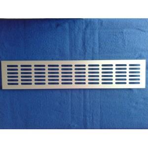 Kratka wentylacyjna metalowa aluminiowa 10x80 srebrna mat