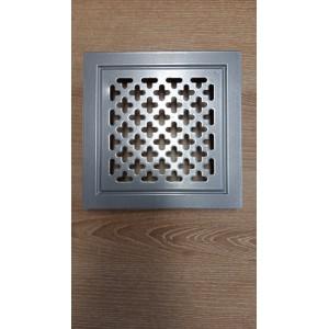 Kratka wentylacyjna metalowa 10x14 biała krzyżyki