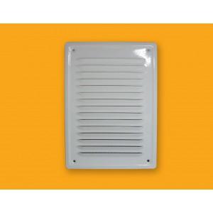 Kratka wentylacyjna metalowa 14x21 biała